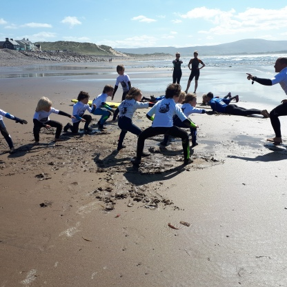 Co Sligo Surf Club Hour of Power session, Strandhill Beach, 2017.